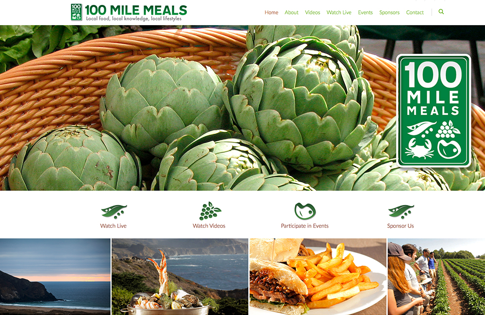 Web Development for 100 mile meals