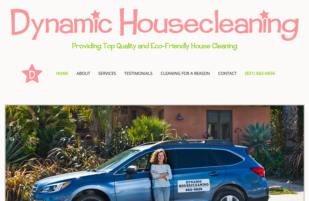 Website design for Dynamic Housecleaning